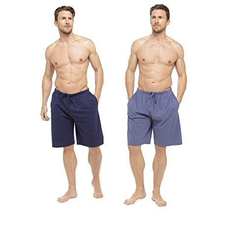 Tom Franks Pacco Doppio Jersey Di Cotone Pantaloncini Corti Tempo Libero - BLU MARINE, Large