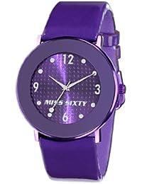 Miss Sixty Just time SQD003 - Reloj de mujer de cuarzo, correa de plástico color violeta