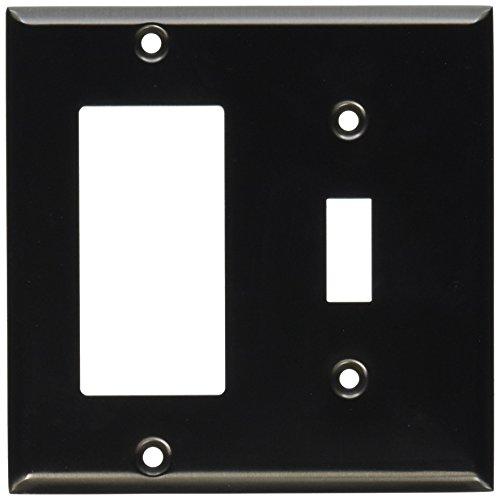 Baldwin Wall Plate (Baldwin 4743151GFCI/Single Toggle abgeschrägte Kante Switch Plate, antik nickel)