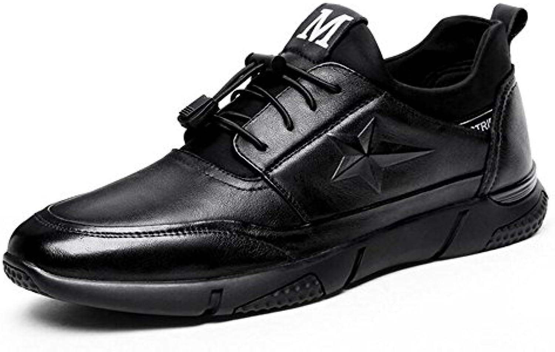 New Herren / Herren schwarz Slip auf breit sitzende Freizeitschuhe   schwarz   UK Größe 6 11 GAOLIXIA