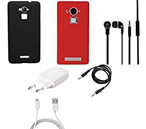 NIROSHA Cover Case Charger Headphone for Coolpad Note 3 - Combo