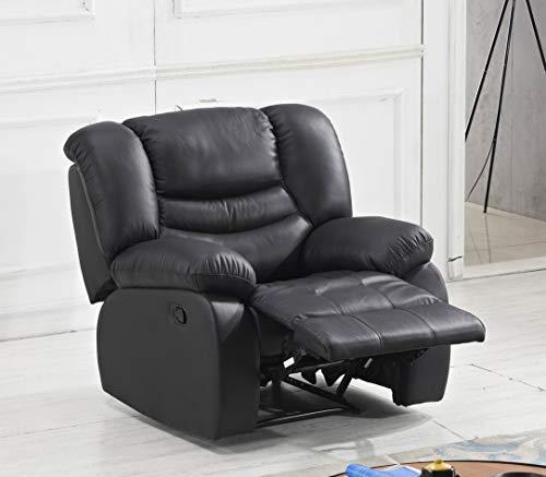 Mapo Möbel Leder Fernsehsofa Relax-Sessel Fernsehsessel mit Schlaffunktion 5116-1-S