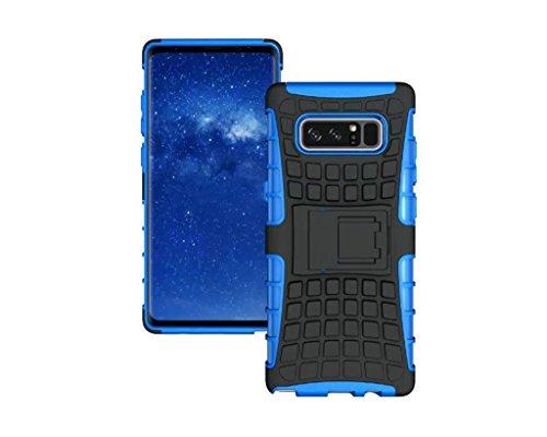 Schutzhülle Samsung Galaxy Note 8 Hülle, Reifen Muster Dual Layer Rüstung Kombination Stoßfest Heavy Duty Schild Harte Schale für Samsung Galaxy Note 8 (Blau)