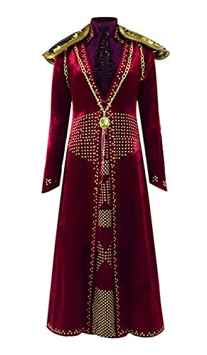 Cersei Kostüm Königin - Qian Qian Damen Cersei Kostüm Halloween Cosplay Königin Party Langes Kleid (XL, Rot)
