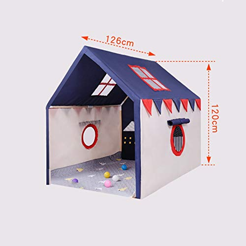 Spielzelt Cabin Bed Tunnelzelt, Kinderbett Zelt Fairy Playhouse Spiel-Zelt Schlafzimmer Festival-Dekor-Zelt (Color : Blue)