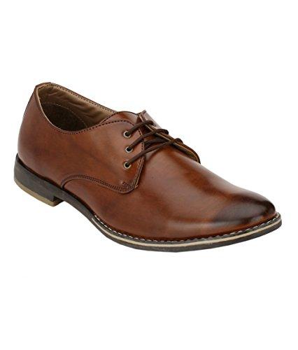 Wave Walk Brown Synthetic Men's Flatform Shoes