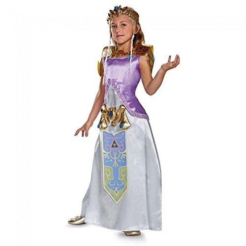 Disguise Zelda Deluxe Legend of Zelda Nintendo Costume, Large/10-12 by - Zelda Kostüm Kinder
