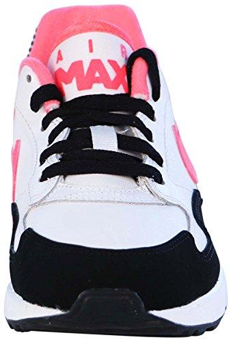 Nike Air Max ST (GS), Chaussures de Running Entrainement Fille, Noir Blanco / Noir (White / Hyper Punch-Black-White)