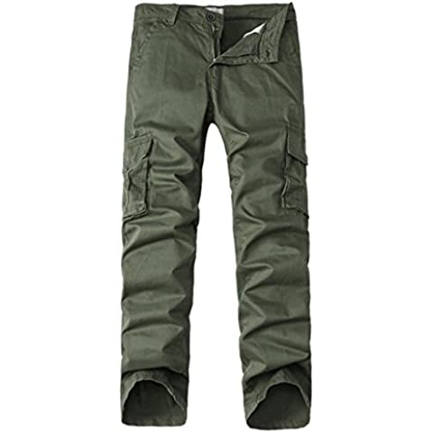 ZYQYJGF Casual Tinta Unita Camuffamento All'Aperto Multi-Indossando Pareggiatore Sweatpants Uomini Strappato Magro Diritto Zipper . 2 . 34