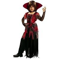 My Other Me - Disfraz de vampiresa gótica, para niños de 7-9 años (Viving Costumes MOM00174)