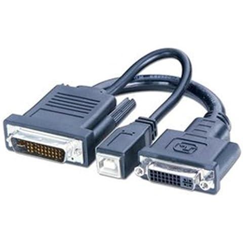 Lindy 41229 - Adaptador para cable (DVI-I/D, USB B, M1, M1-DA, EVC, P&D, macho/hembra)