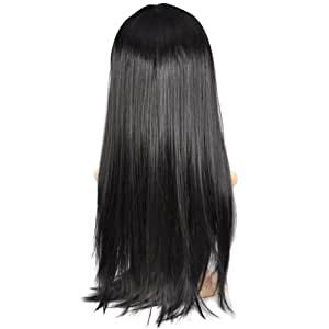 Multicolor Sexy Long Curly&Bob Short&Straight Full Wig,colorful Fancy Dress (Long Straight+Black)