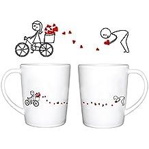 Human Touch - Amor de la pista tazas - Juego de 2 tazas