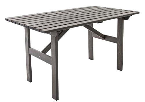Ambientehome Gartentisch Tisch Massivholz Esstisch HANKO, Taupegrau
