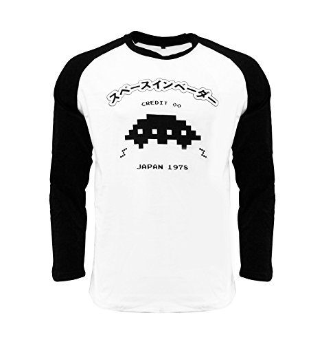 Space Invaders Official UFO Raglan T-Shirt - XS to XXL