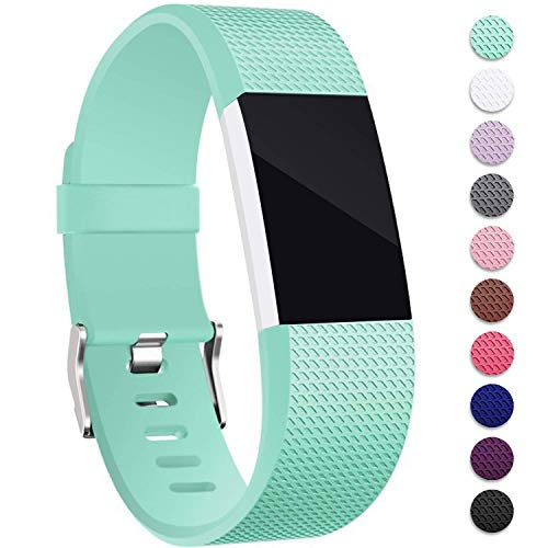 Mornex Kompatibel Fitbit Charge 2 Armband, Original Ersatzarmband Sport Fitness Watch Band für Fitbit Charge 2 Armband, Minzgrün, Small