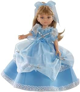 Paola Reina - 04570 - Poupée et Mini-Poupée - Princesse Carla Robe Bleue - Collection Les Amigas Princesses - 32 cm