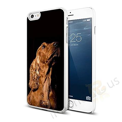 Chien race Coque rigide à clipser pour Apple iPhone 66S par iPhone R Us®, Burgandy Blue, Cocker Spaniel