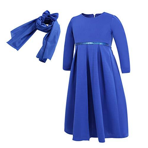 5855657b5cbfac Julhold - Pañuelo para bebé, niña, Ramadan Muslim Abaya Dubai Robe, Ropa  Tradicional