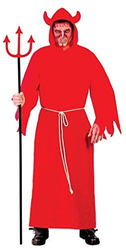 Mens Red Devil Satan Demon Evil Halloween Fancy Dress Costume Outfit Size Large (Large)