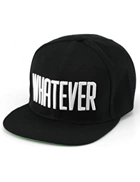Whatever® - Snapback bestickt mit Schriftzug   Whatever   Baseball Cap   Größenverstellbar   Cap Hut Mütze Cappy...