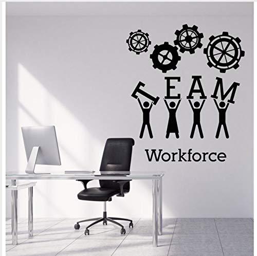 Team Business Work Wandaufkleber Vinyl Aufkleber Teamwork Büro Innendekoration Kreative Schwarz Wandkunst Aufkleber Für Büro 42X49 Cm