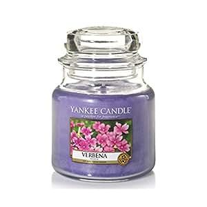 Yankee Candle 1507753E Bougie Parfumée Moyenne Jarre Verveine Combinaison Violet 9,9 x 9,5 x 10,9 cm 410 g