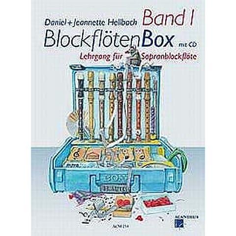 bloque floeten Box 1–Arreglados para flauta dulce soprano–con 2CD 's [de la fragancia/Alemán] Compositor:–Claro BACHMANN Daniel + Claro Bach de trapo