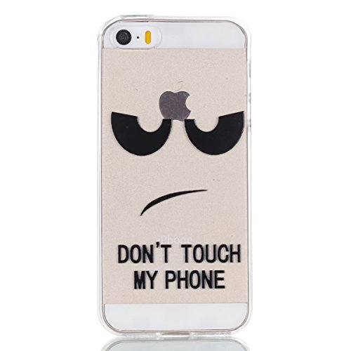 Custodia iPhone 5S, iPhone SE Cover Silicone Trasparente, SainCat Cover per iPhone 5/5S/SE Custodia Silicone Morbido, Shock-Absorption Custodia Ultra Slim Transparent Silicone Case Ultra Sottile Morbi Occhio