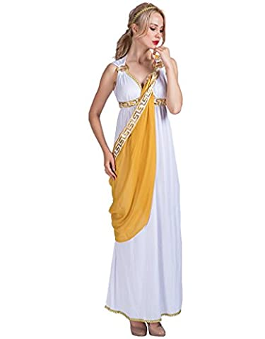 EraSpooky Damen römische Dame griechische Göttin Kostüm (Griechische Göttin Kopfschmuck Kostüm)