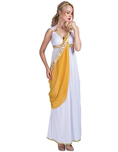 EraSpooky Damen römische Dame griechische Göttin Kostüm