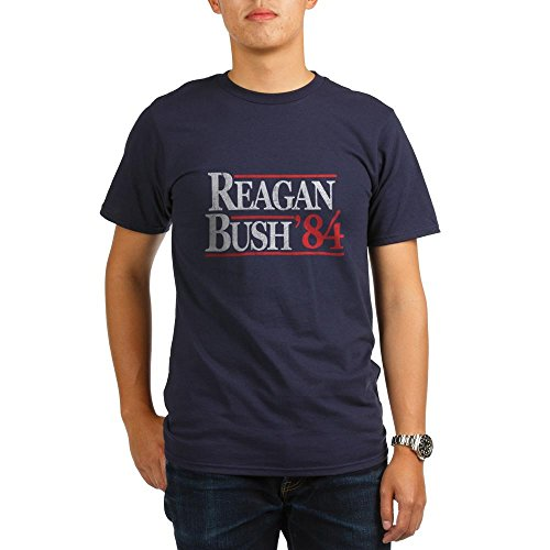 Reagan Bush '84 Men'T-Shirt, Bio, dunkel (T-shirts Bush)