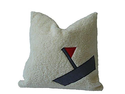 Preisvergleich Produktbild Fitzibiz Kinderkissenbezug Lars, Öko-Teddy, streifen, weiß, 50x50cm auch in anderen Größen verfügbar