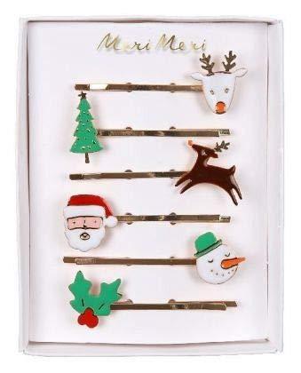 Meri Meri Weihnachts-Emaille-Haarklammern