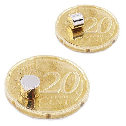 Brudazon | 25 Mini Scheiben-Magnete 5x4mm | N52 stärkste Stufe - Neodym-Magnete ultrastark |...
