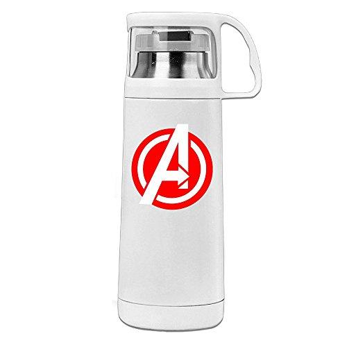 Handson Edelstahl Vakuum Isolierte Reisen Becher Hero Logo Isolierte Vakuum Cup Weiß...