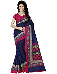Trendz Women's Cotton Silk Saree With Blouse Piece (Tz_1075,Multicolor,Free Size)
