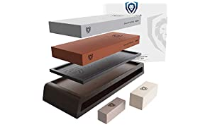 DALSTRONG - Premium Whetstone Kit - Extra Large Grit Stones - Top-Grade Corundum - Thick - Ultra-Durable - #1000 & #6000 Grit