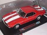 CHEVY CHEVROLET Z28 Z 28 1968 ROT CAMARO RED METALLMODELL 1/18 WELLY MODELLAUTO MODELL AUTO