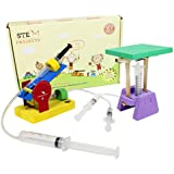 Butterflyfields Hydraulic Jack and Projectile Launcher Science Project Kit for 10 Years and Above Grade 8 Kids