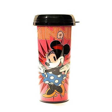 Silber Buffalo dl6287g Disney Minnie Maus Spot Glitter BPA frei Kunststoff Reise Becher, 16oz, (Rosa 16 Ounce Tumbler)