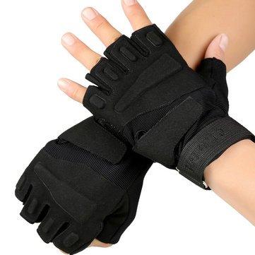 Training Half Finger Gloves-L-Black