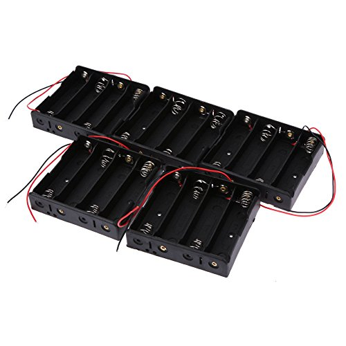 ZREAL zrealscatola d'entreposage de plastique du support de la caisse de batterie 5pcs/set pour les piles rechargeables 18650 4 Section