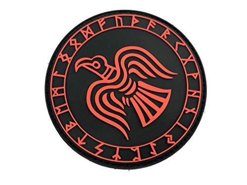 Odin Cuervo Runa Nórdica Vikingo Rojo PVC Paintball