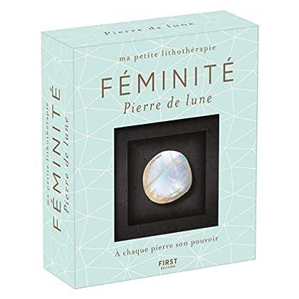 Ma petite lithothérapie - Féminité - Pierre de lune : une pierre + un livre