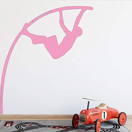Stabhochsprung Wandaufkleber Moderne Mode Wandaufkleber Dekoration Zubehör für Wohnzimmer Hintergrund Wandkunst Aufkleber Rosa 58 cm X 63 cm