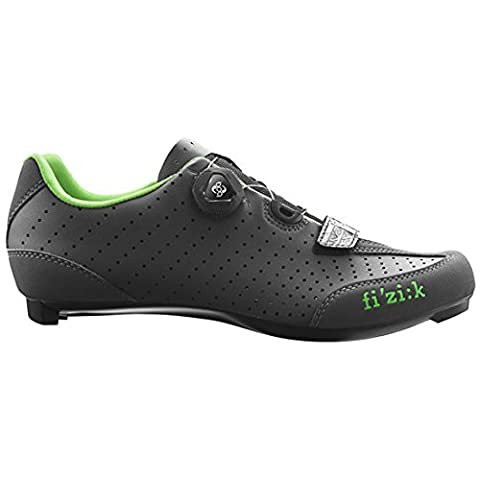 FIZIK Rennschuh R3B Uomo Obermaterial: Microtex Laser Perforated, Laufsohle: UD Carbon Fiber, Innensohle: fi'zi:k Cycling Insole, Verschluss: Boa IP1 System, Gewicht: 230g, black/red, Gr. 42