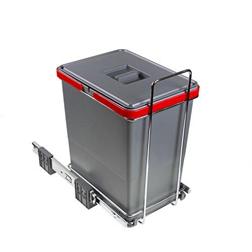 ELLETIPI - Ecofil PF01 34C1 - Cubo de Basura para Reciclaje extraíble para Base, plástico y Metal...