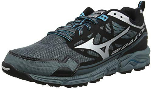 Mizuno Wave Daichi 4, Zapatillas de Running para Asfalto para Hombre, Gris (Stormy Weather/Silver/Peacock Blue 03), 43 EU