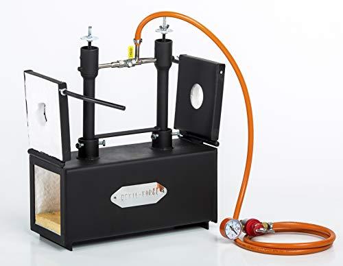 Gas Propano forge per farifriccie per la lavorazione del ferro Fabbri | DFPROF2+2D | Propane Gas Forge